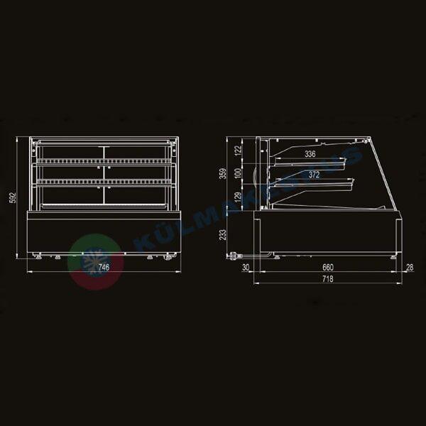 Lauapealne külmvitriin ADDA SMALL, 0.7 m