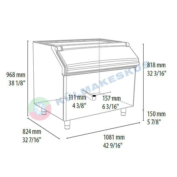 Jääkast D305, 252 kg