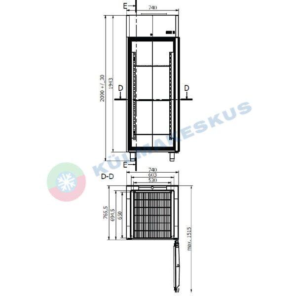 Külmkapp Gastro C500