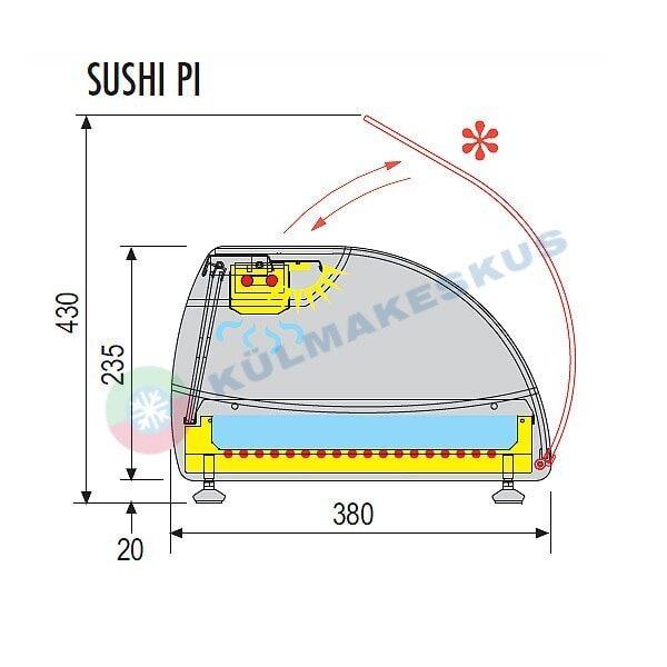 Sushi külmlett SUSHI 6PI, 1.43 m
