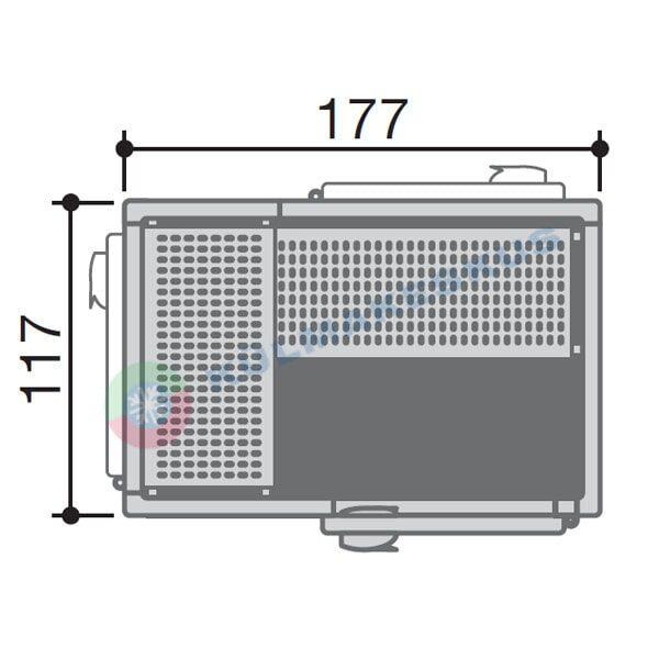 Külmkamber 1,17x1,77m