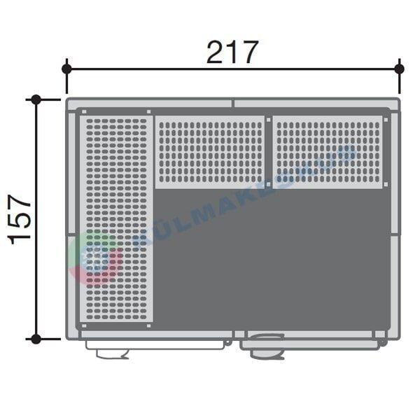 Külmkamber 1,57x2,17m