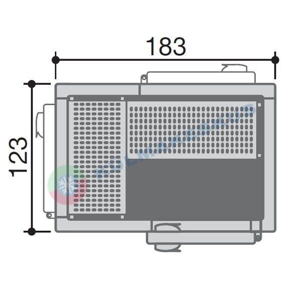 Sügavkülmkamber 1,23x1,83m