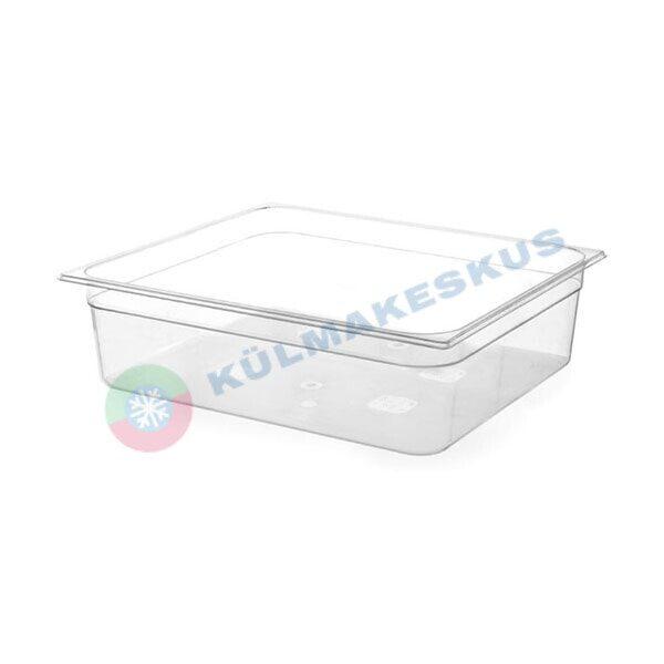 GN 1/1, h 100 mm, läbipaistev polükarbonaat, 861226