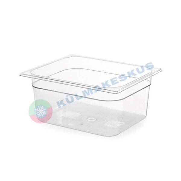 GN 1/2, h 100 mm, läbipaistev polükarbonaat, 861424