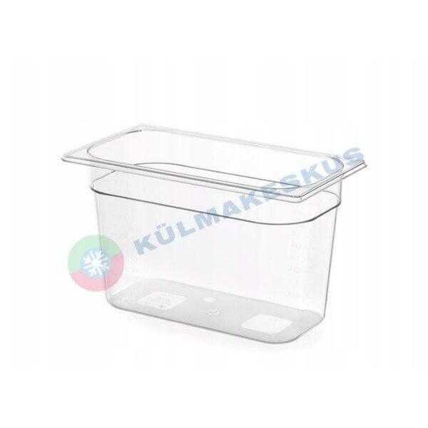 GN 1/3, h 200 mm, läbipaistev polükarbonaat, 861509