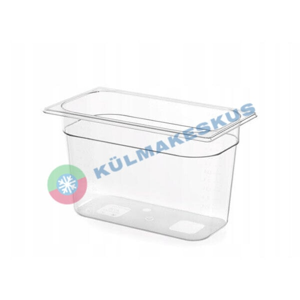 GN 1/3, h 100 mm, läbipaistev polükarbonaat, 861523