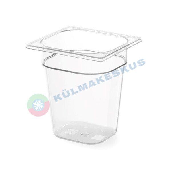 GN 1/6, h 200 mm, läbipaistev polükarbonaat, 861707