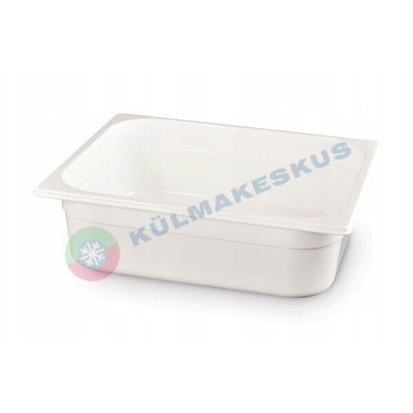 GN 1/2, h 65 mm, valge polükarbonaat, 862483