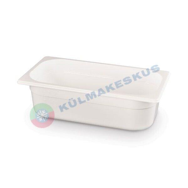 GN 1/3, h 100 mm, valge polükarbonaat, 862575