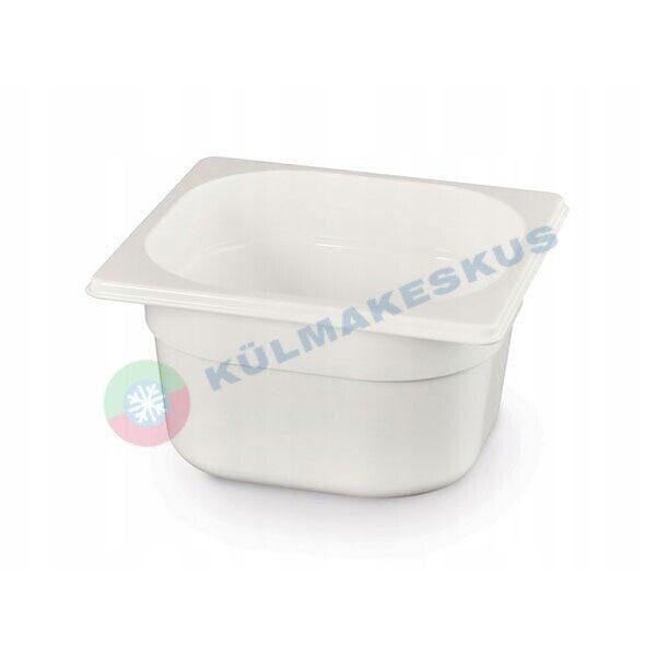 GN 1/6, h 100 mm, valge polükarbonaat, 862773
