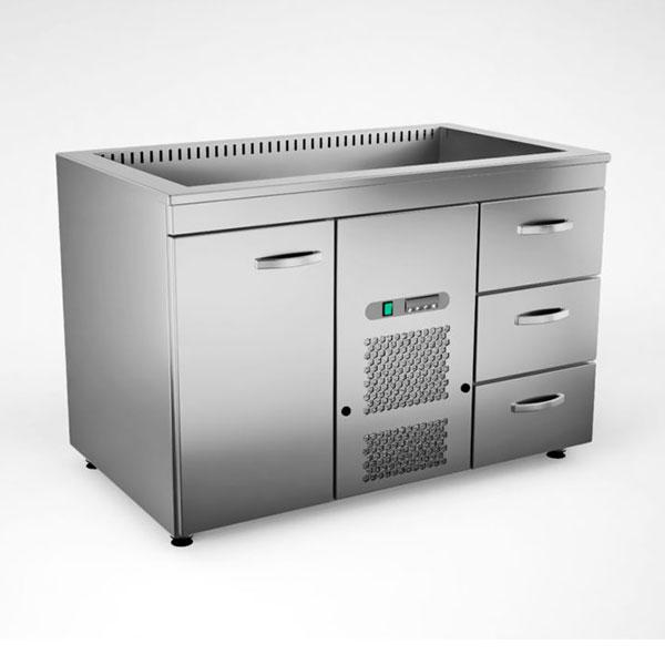 Külmsüvendiga kapp KSK/V-1213, 1.2 m