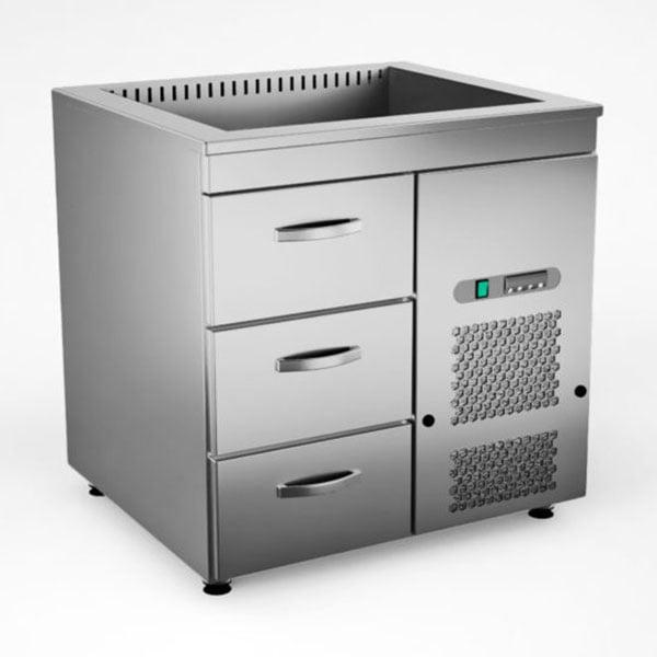 Külmsüvendiga kapp KSK/V-803, 0.8 m