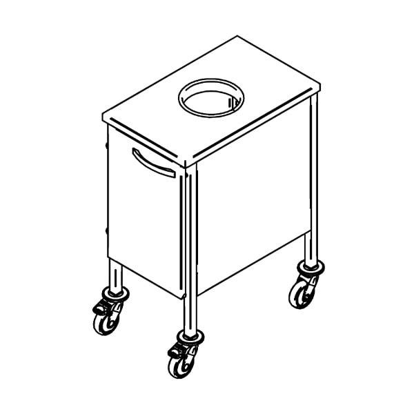 Biojäätmete käru BK-1, 0.4m