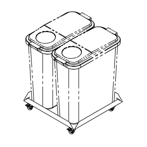 Jäätmenõukäru JNK-2x60, 2x60L