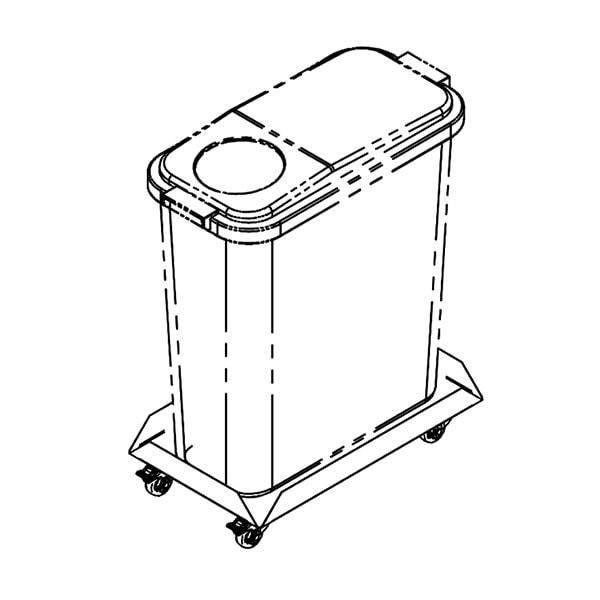 Jäätmenõukäru JNK-60, 60L