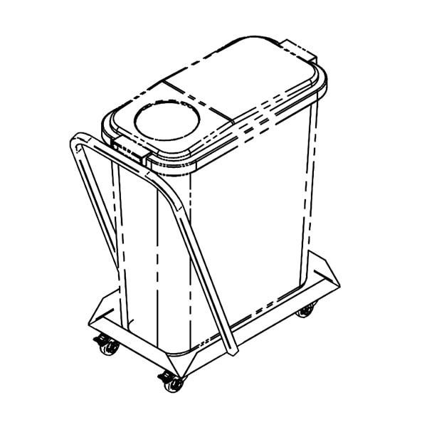 Jäätmenõukäru JNK-60/K, 60L