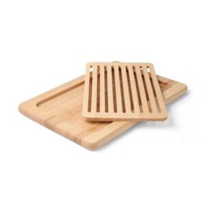 Kaheosaline lõikelaud leiva jaoks, 480 mm, 505151